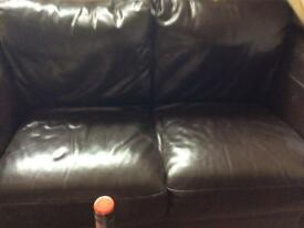 FOR SALE. 2 IMMACULATE BROWN LEATHER SOFAS