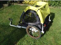 Bike trailer, seats 2 children