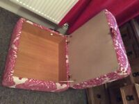 DFS 3 -4 seater sofa, cuddle chair and storage foot stool for sale