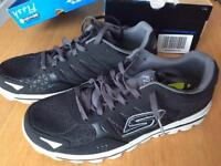 Sketchers go flash 2 black/grey trainers (size 10) new rrp £65.00