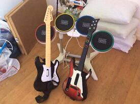 Drums plus 2 guitars
