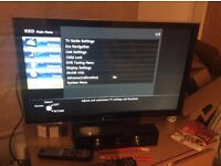 "32"" panasonic viera tv, full hd, hdmi, freeview hd like new, hardly used, excellent condition"