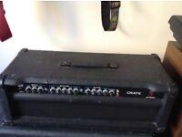 Crate GT1200H Guitar amp head.Solid state guitar 120 watt guitar amp head.
