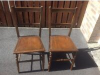 2 Antique/Vintage dining chairs ideal restoration projject