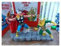 Thor Vs Loki Statue. Marvel