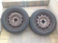 "Ford Fiesta 14"" Steel Wheels and Tyres"