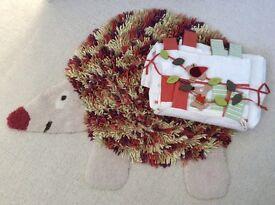 Mamas & Papas nursery set, curtains, tiebacks, rug, woodland theme, used