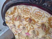 Victorian Nursing / Fireside Button Back Chair