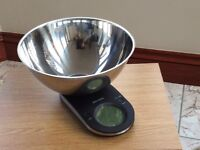 Digital Kitchen Scales. John Lewis Slimline Digital Scales with Stainless Steel Bowl