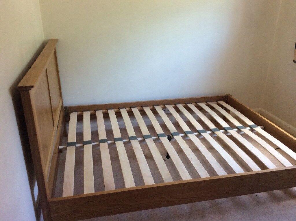 John Lewis King Size Darcy Solid Oak Bed Frame