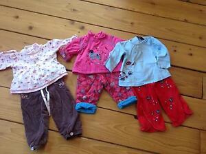Vêtements fillettes et unisex 6 mois à 3 ans  prix en lot