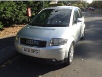 AUDI A2 TDI full mot £30 a year road tax