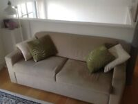 Double size sofa bed with easy action foldaway mechanical action