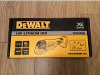 Brand New DeWalt DCS355N 18v Cordless XR Multi Tool with Accessories