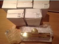 5 Brand new brass picture lights boxed