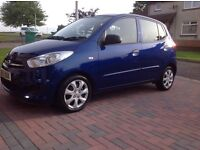 2012 Hyundai i10. 5 door hatchback £20 a year road tax, 65mpg, open to offers