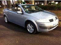 RENAULT MEGANE PRIVILEGE 1.6 VVT COUPE CONVERTIBLE, AUTOMATIC, LOW MILEAGE, 12 MONTH M.O.T, BARGAIN