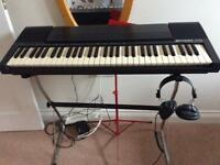 Electronic Farfisa keyboard tk100 with stand