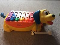 Fisher Price Musical Pull Along Puppy Xylophone