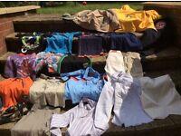 boys joblot of mixed clothes, coats, gap, tommy hilfiger, trousers, tops, belts etc. over 19