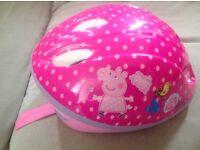 Girls Minnie Mouse n Peppa Pig bike saftey hats