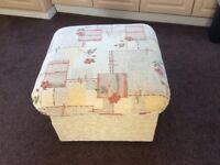 Large fabric foot stool