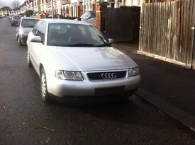 Audi a3 1.6 petrol silver, full black leather interior 1 owner starts runs and drives £450 ono