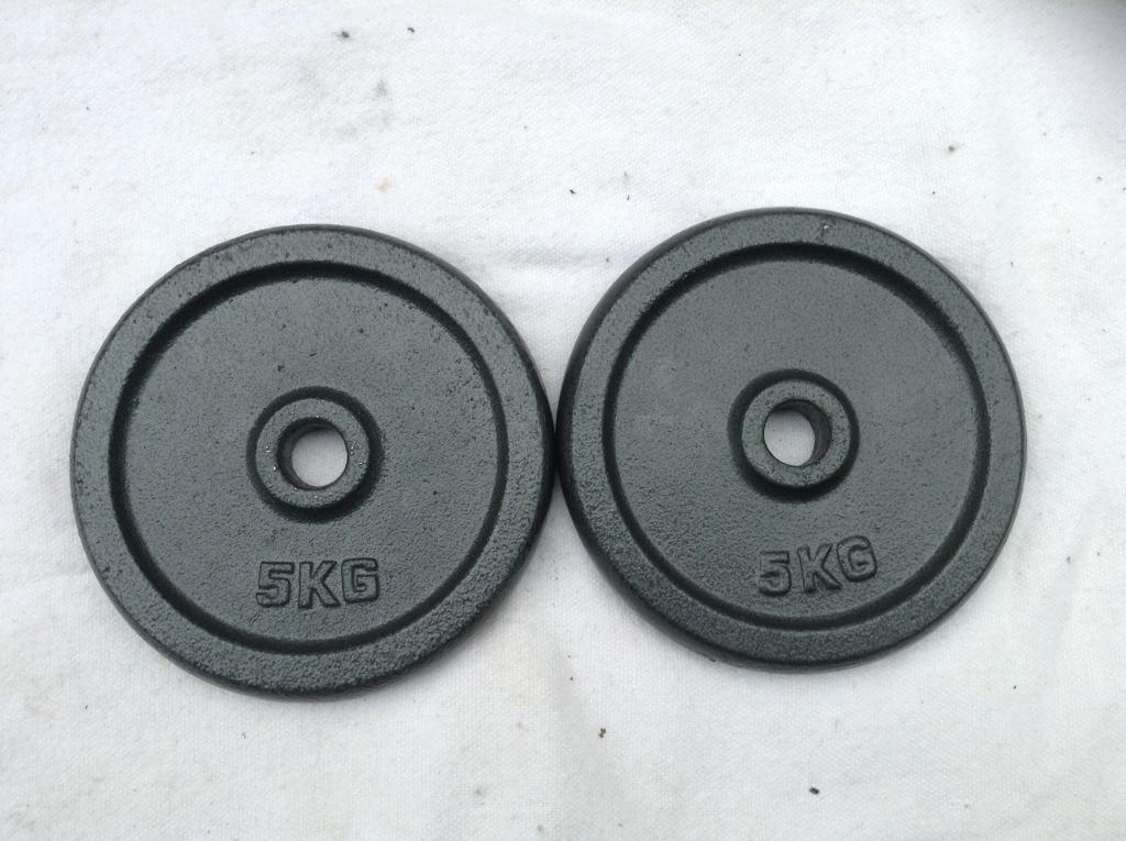 4 x 5kg Pro Fitness Standard Cast Iron Weights