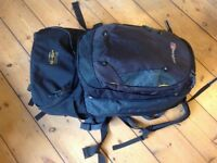 Berghaus Jalan backpack 65l plus 15l detachable daypack with wheels