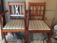 Mahogany Oval Dining Table plus 6 chairs
