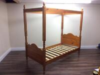 4 poster single bed frame