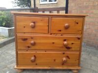 Pinewood chest of drawers x 2