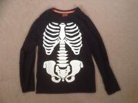 Black Skeleton T-Shirt Age 11years