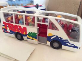 PLAYMOBIL COACH BUS AND PASSENGERS
