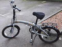 GREAT DEAL / Raleigh Evo-2 Folding Bike + three years Halfords adult bike care plan