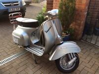 Piaggio / Vespa 1970 expertly rebuild , finished in m.silver 18,000 miles on the clock .