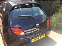 Ford KA 56 plate A/C CD Player,Central locking, electric Windows, new Battery 51.100 mile 2 owners