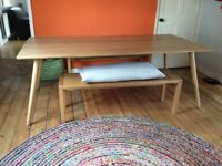 Dining table, Habitat 'Vince', Oak table. Seats 8. Bench not included