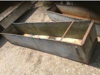 Extra large riveted retro vintage garden planter trough