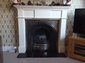 Cast iron fire plus surround