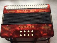 Hohner Accordion Black dot B/C used 1950/1960s