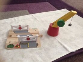 Wooden railway accessories