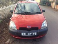 Great Low Mileage 03 Toyota Yaris 1.0 with 5 Doors