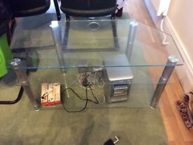 Tv stand clear glass made by Alphason