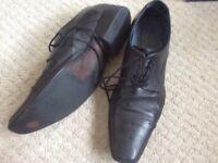 Gents formal black lace up shoes Jones size 9