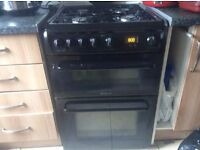 Hotpoint double gas cooker