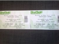 Take That 29th May Sheffield Arena, standing x 2 tickets