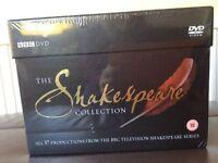 Brand new unopened box set 37 Shakespeare BBC plays on DVD