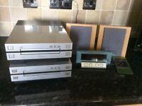 PIONEER HIFI XC-L7 CD PLAYER, CT-L7 STEREO CASSETTE DECK, FM AM RADIO, SPEAKERS