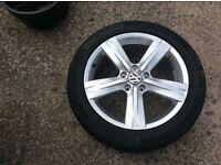 Volkswagon Passat b6 b7 1 new alloy and continental tyre